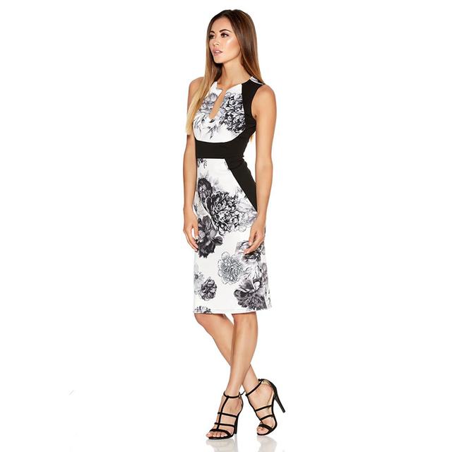 Fantaist Women Summer Dresses Vestidos Vintage Floral Print Cocktail Party Bodycon Pencil Dress, 2017 New Work Wear Clothes