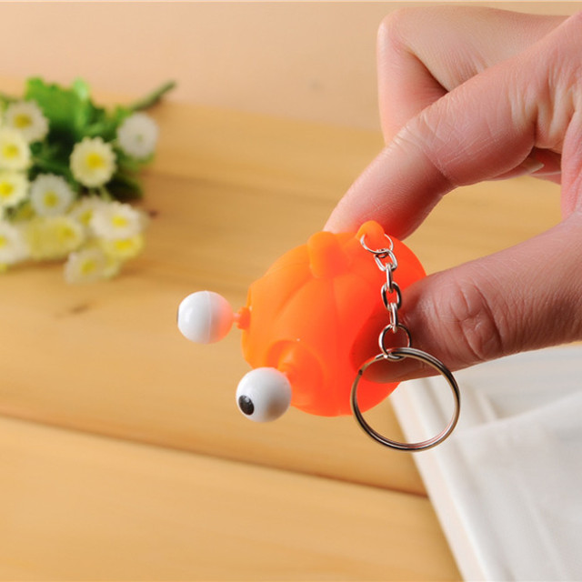 Eyes Pop Out Beastie Keychain