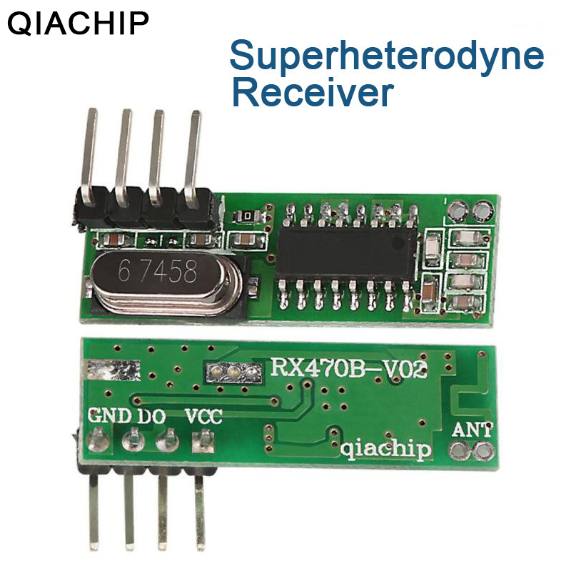 US $1 11 44% OFF|QIACHIP 433Mhz Wireless RF Relay Receiver Module 433 MHZ  Remote Control Switch For Smart Home Arduino Uno Relay Receiver Module-in