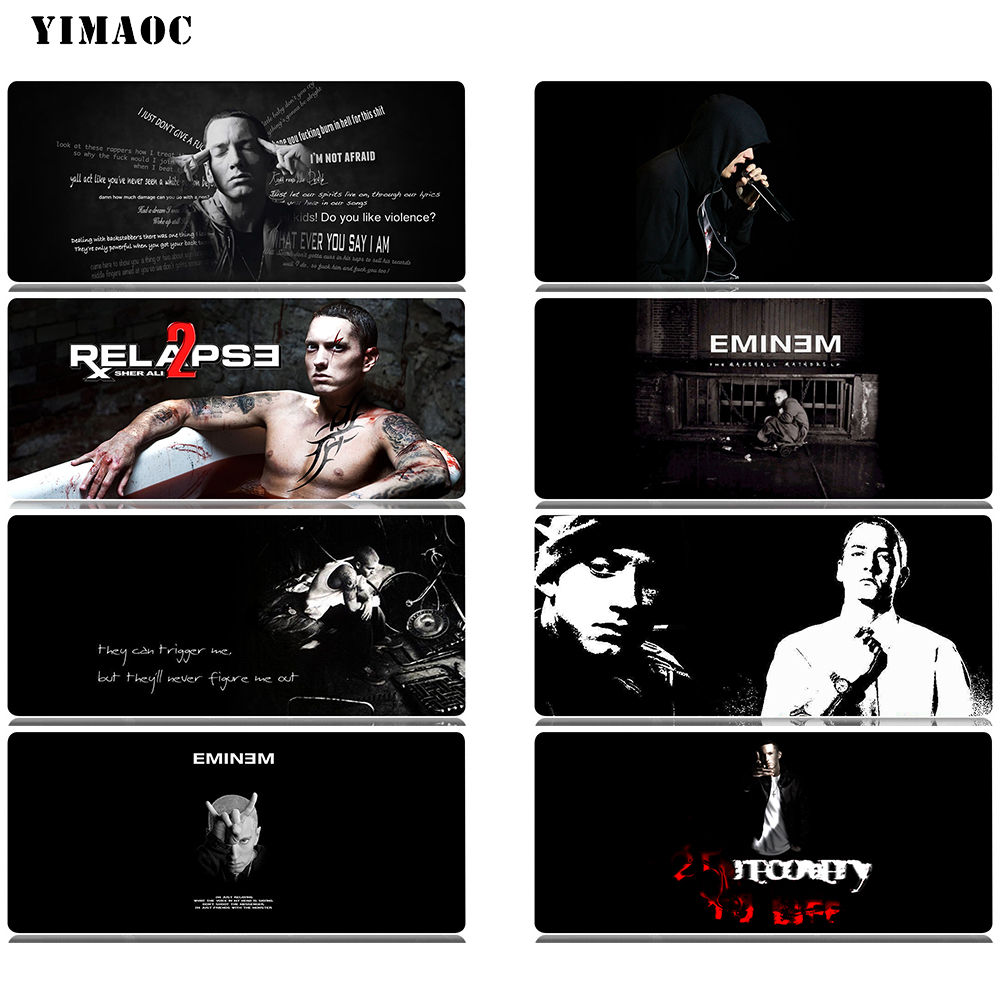 Yimaoc Eminem Marshall Bruce Mathers Iii Mouse Pad Computer Mousepad Anti-slip Natural Rubber Gaming Mouse Mat 30x60 Cm To Win Warm Praise From Customers