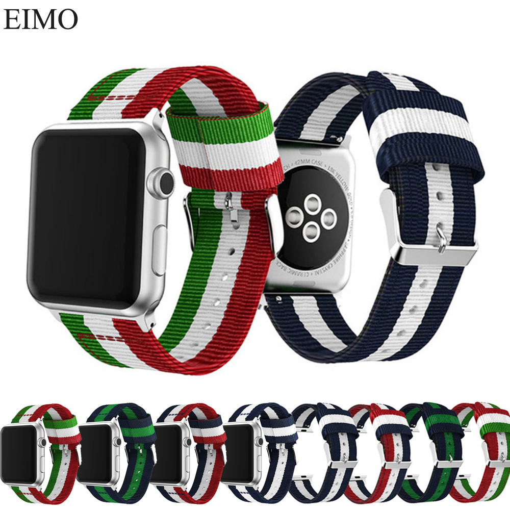 woven nylon strap for apple watch iwatch band 42mm 38mm 3/2/1 canvas watch strap bracelet wrist band for apple watch 3 belt