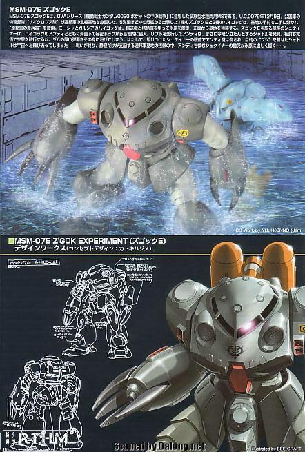 Bandai HGUC 39 MSM-07E Zgok Experiment Gundam Model Kits Assembled Model Huge Model scale model