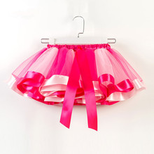 2019 New Fashion Kids Girls Rainbow Tulle Stage Skirts Childrens Party Ballet Colorful Dance Tutu 2-11Y