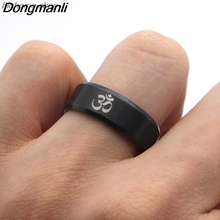 F125 2018 New Arrival Om Symbol Buddhism Zen Art Ring Stainless Steel Jewelry India Om Yoga Motor Biker Rings Gift For Man Women new arrival 100% real silver bracelet man breacelets buddhism 20cm