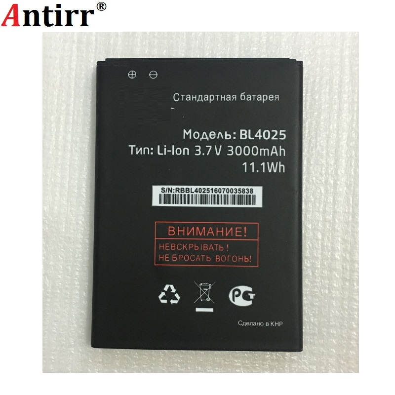 1PCS new 100% high quality BL4025 BL 4025 3000mah Replacement Lithium battery For Fly IQ4411 IQ 4411 Phone Batteries