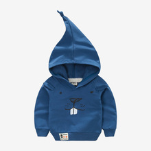 2016 New autumn Children's wear Korean New pattern boy pollover magic cap sweater Middle and small children Jacket