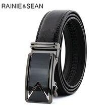 RAINIE SEAN Genuine Leather Belt Male Black Business Automatic Metal Buckle Man Cowhide Designer Classic Mens Belts Luxury