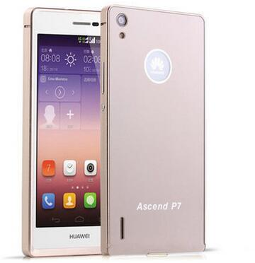 Huawei p7 case,New Fashion Ultra-thin Aluminum Metal Frame & PC Back Cover Case Huawei Ascend P7 Phone Cover phone bag