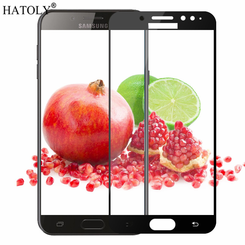 For Tempered Glass Samsung Galaxy C8 Glass 9H Full Coverage Film Screen Protector For Samsung Galaxy C8 Glass For Samsung C8