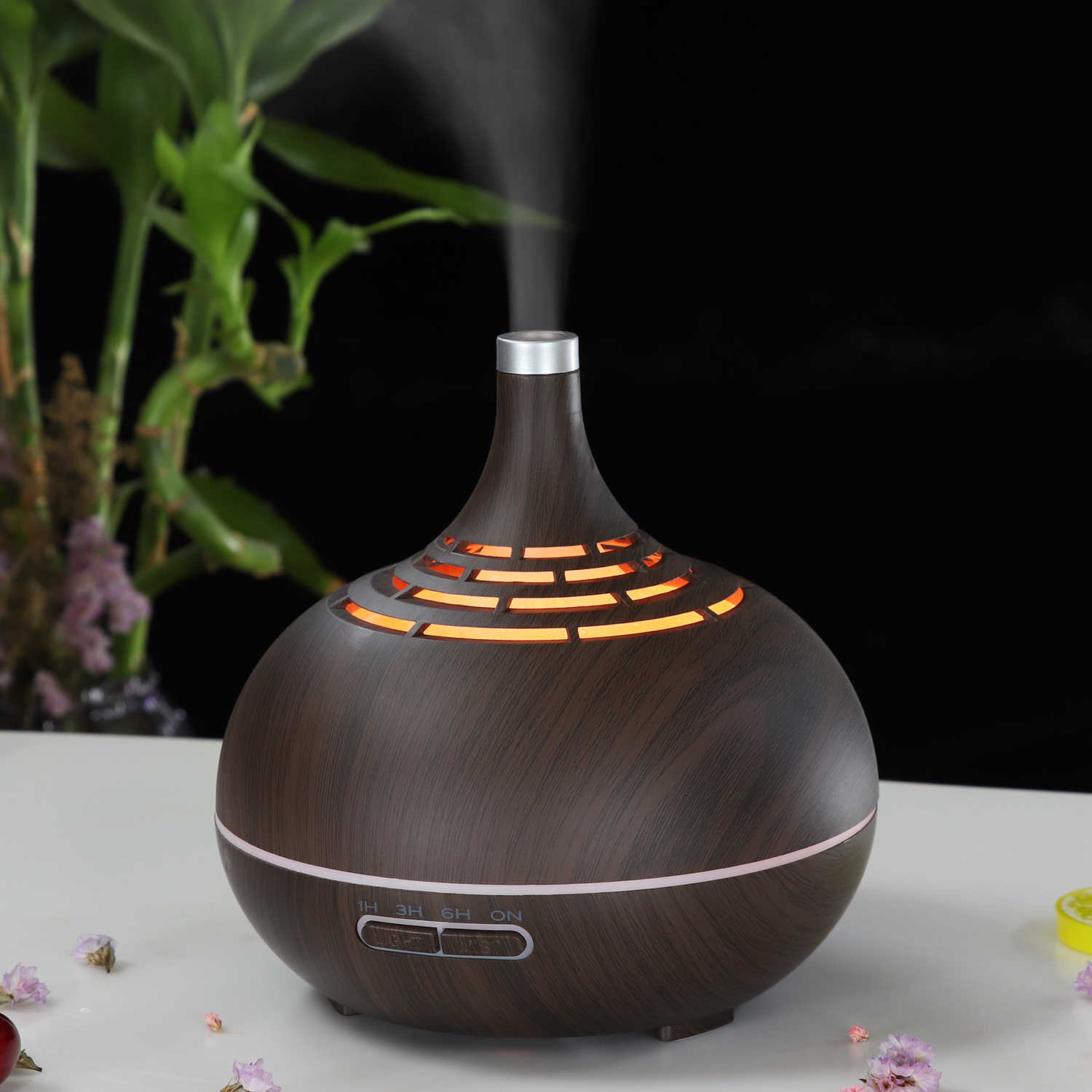 400ml ไฟฟ้า Ultrasonic Air Humidifier AROMA Essential Oil Diffuser fogger LED Light Aroma Diffuser Mist เครื่องทำ