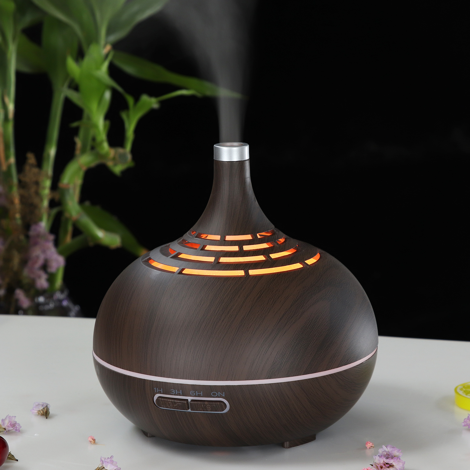 400ml Electric Ultrasonic Air Humidifier Aroma Essential Oil Diffuser Fogger LED Light Aroma Diffuser Mist Maker For Home