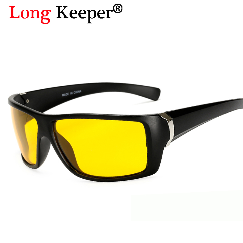 Long Keeper mens polarizadas Gafas de sol lente HD anti-reflectante ...