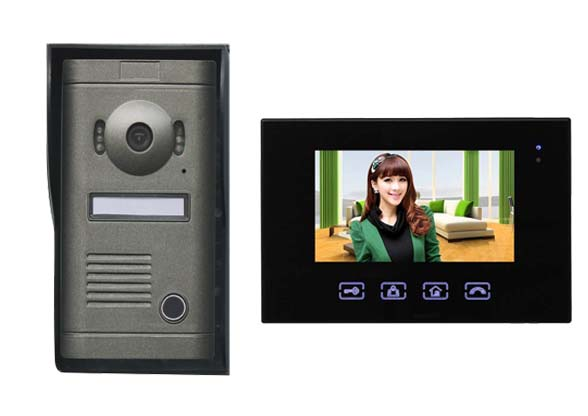 2016 New Arrival Touch key 7inch wired video door phone, HD waterproof camera, night vis ...