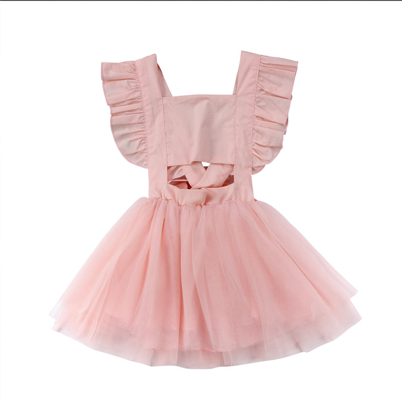 Toddler Kids Baby Girl Dress Sleeveless Pink Black Girls Clothing Cute Princess Tutu Tulle Dress Sundress Clothes Summer New quying laptop lcd screen for acer aspire ethos 5951g timeline 5745 7531 series 15 6 inch 1366x768 40pin n