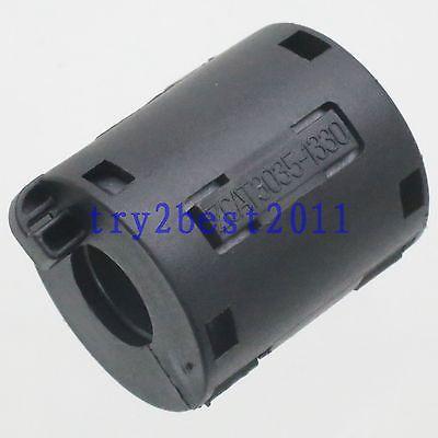 TDK ZCAT 3035-1330 RFI EMI Cable Filter Ferrite Core Clip On 13mm Cable Black 5pcs tdk 9mm clip on rfi emi filter ferrite