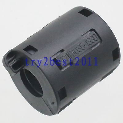 TDK ZCAT 3035-1330 RFI EMI Cable Filter Ferrite Core Clip On 13mm Cable Black screw terminals metal casing 10a ac 115 250v emi filter