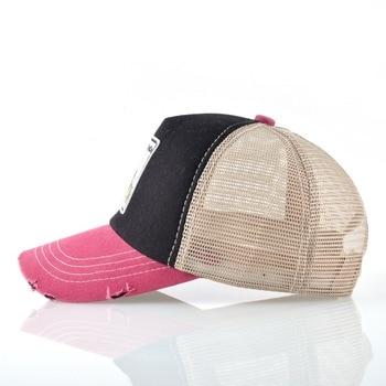 Panda Trucker Cap Snapback Patch Baseball Cap Women Casual Breathable Mesh Hats For Men Unisex Hip Hop Casquette 2