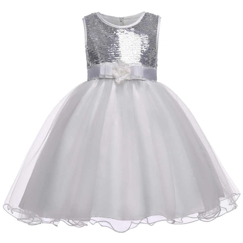 9969af67d Vestidos Das Meninas do bebe Para 3-14Yrs Criancas Vestidos de Festa De  Casamento Princesa