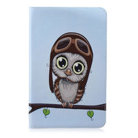 leather flip Tablet Case For Samsung Galaxy Tab E T560 SM-T560 T561 9.6 inch Smart Cover Fashion Panda Owl Flip Stand PU Leather Skin Funda (4)