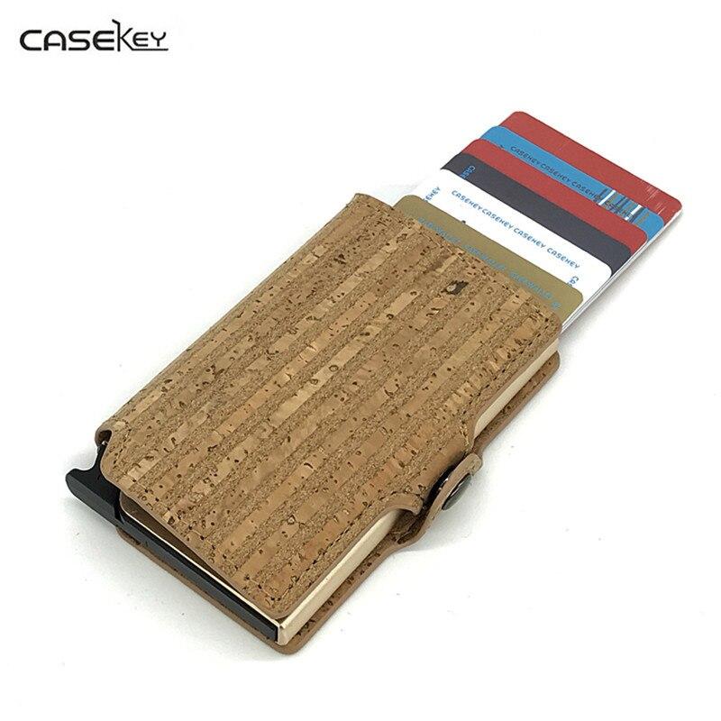 CaseKey Anti RFID Blocking Magic Pop Up Bank Card Holder ID Bank Card Case RFID Protection Metal Credit Card Holder Aluminium creative gifts 3d pop up card greeting