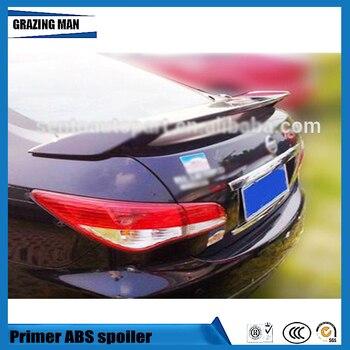 Hot Sale ABS Primer Color Rear Trunk Spoiler Fit For Bluebird 2012 2013 2014