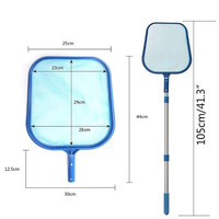 Water landscape fish pond swimming pool suctioning leaves cleaning tools fishing net