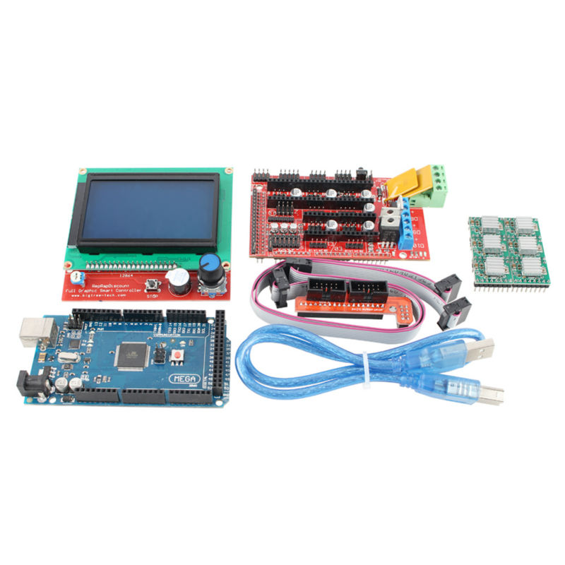 ANYCUBIC 1pcs Mega 2560 R3 1pcs RAMPS 1 4 Controller 5pcs A4988 Stepper Driver Module 1pcs