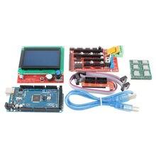 ANYCUBIC 1 шт. Мега 2560 R3 + 1 шт. ПЛАТФОРМЫ 1.4 Контроллер 5 шт. A4988 Шагового Модуль Драйвера 1 шт. 12864 контроллер для 3D комплект Принтера