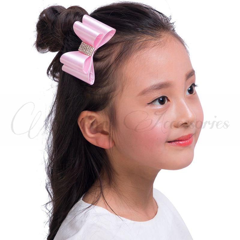 """3.2 """"16 bojëra Lule flokësh të porsalindura me flokë të harlisur me butona të rhinestone Fëmijëve butikë për flokë"""