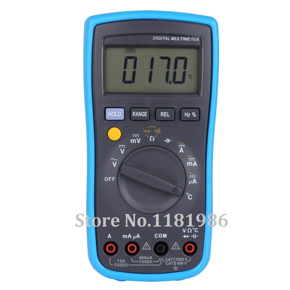 Bside adm10 digital multimeter dmm dc ac voltage current for Gartenpool 10 meter