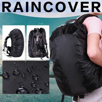 Nieprzepuszczalny plecak płaszcz przeciwdeszczowy osłona przeciwpyłowa wodoodporne tkaniny osłony przeciwdeszczowe podróże Camping piesze wycieczki odkryty torba na bagaż płaszcze przeciwdeszczowe tanie i dobre opinie Wspinaczka Uniwersalny Odzież przeciwdeszczowa Single-osoby przeciwdeszczowa Poncho 190 t nylon fabric Bag Raincoat Black One