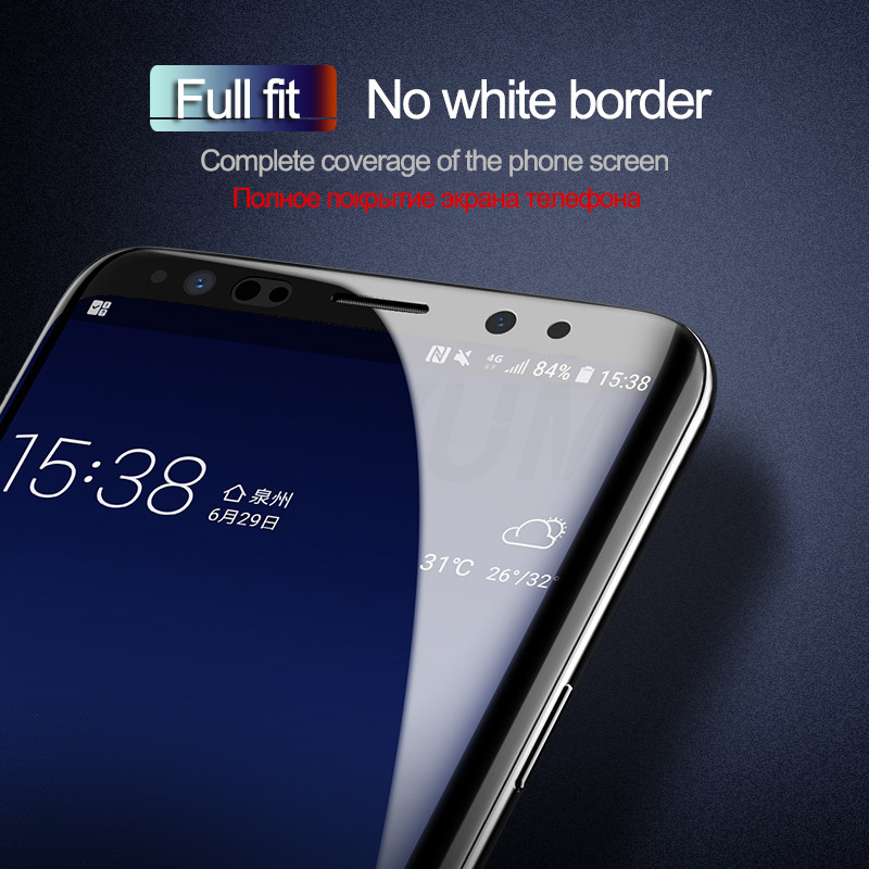 9D Full Cover Screen Protector Film For Samsung Galaxy S8 S9 Note 8 9 S7 S9 S8 A6 A8 Plus 2018 Protective Soft Film Not Glass