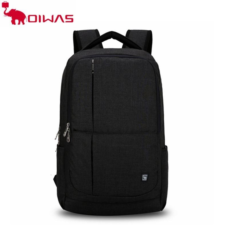 OIWAS multifunctional backpack bag 17 inch laptop waterproof canvas business men women OCB4240