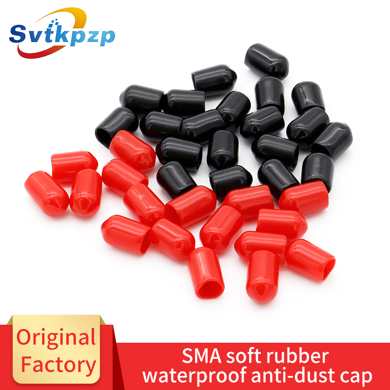 100PCS lot SMA Anti dust Cap SMA Connector Antenna Protector Insulation Cover Coaxial RF Antenna Protection Cap Cover in Antennas for Communications from Cellphones Telecommunications