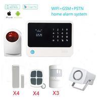 Wi Fi GSM сигнализация s IOS/Android приложение управление 433 мГц Открытый сирены дом охранной сигнализации с PIR детектор движения