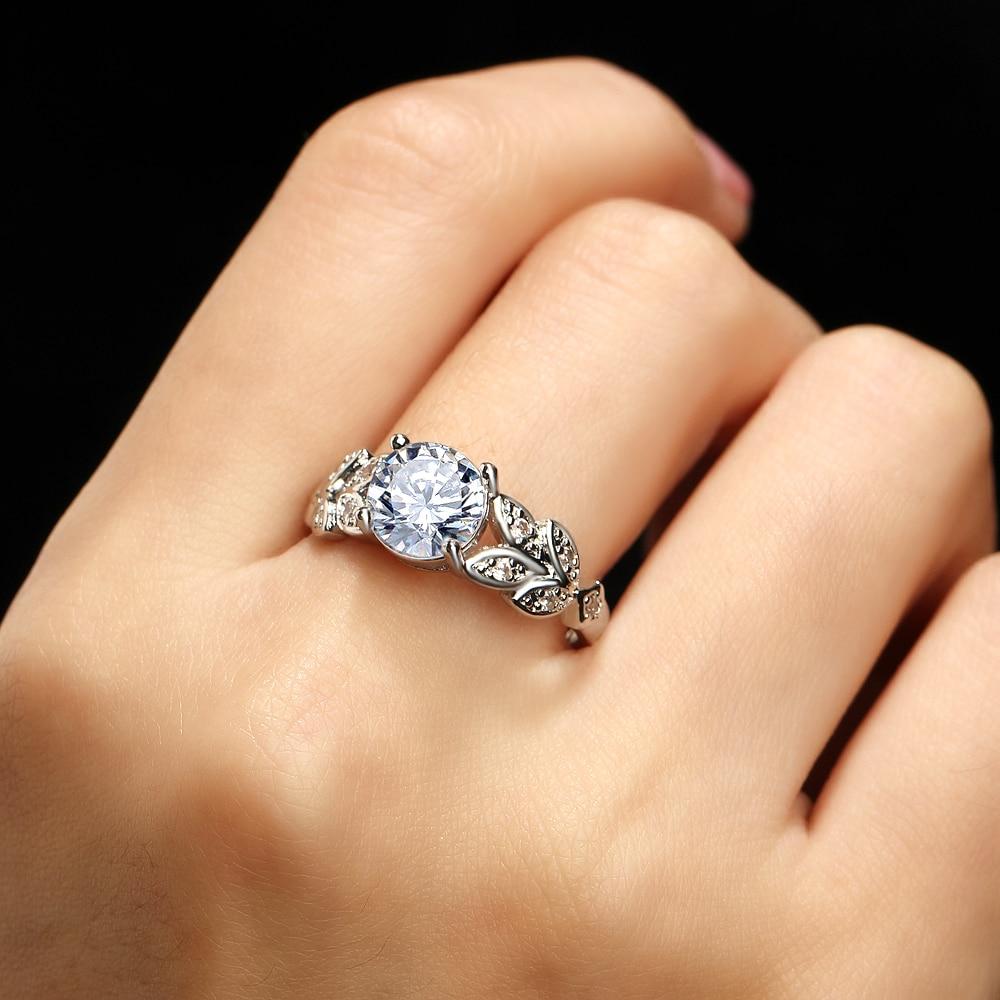 17KM Fashion Leaf Flower Wedding Rings - მოდის სამკაულები - ფოტო 3
