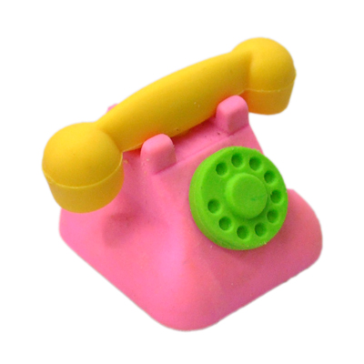 Telephone Rubber Eraser Set School Eraser Set Eduction Eraser  MOQ 3 PCS Per Lot