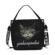 Luxury Brand Designer Women Bag Sequin cat Handbags For Shoulder Bags Crossbody Leather Ladies 2019 Tote Female