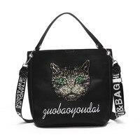 Luxury Brand Designer Women Bag Sequin cat Handbags For Women Shoulder Bags Crossbody Leather Ladies Handbags 2019 Tote Female