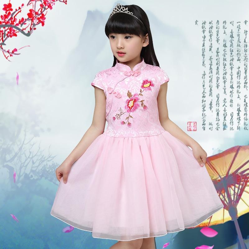 Traditional Chinese Ball Gown Cheongsam for Kids | WayAsian