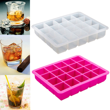Moda 1PC New Mold pătrat mare Jelly Maker Mujdei Bud Pudding Ice Moulde Gheață Cub Tray Ice Cube 20-Cavity Silicon Kitchenware