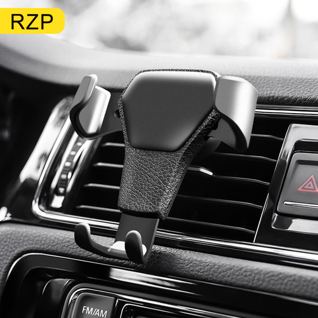 RZP Universal Anti-skid Car Phone Holder Air Socket Mount Clip Clamp Adjustable Mobile Phone Stand Bracket GPS Car Styling Tools