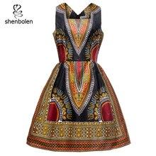 african dresses for women dashik party long fashion dress cotton wax print traditional
