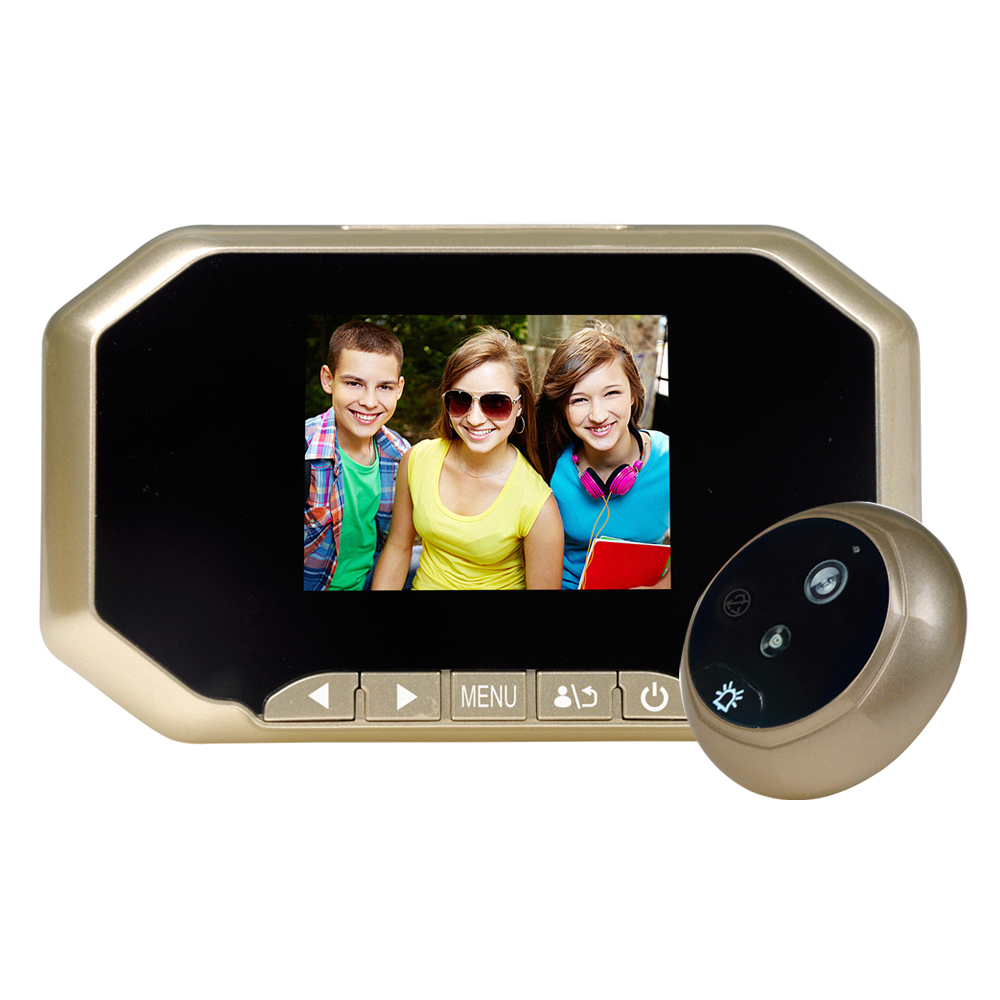 3.0inch Color Screen No Disturb Night vision Ring doorbell Video photo shooting recording Peephole Viewer 3.0 TFT Color Screen 7 inch video doorbell tft lcd hd screen wired video doorphone for villa one monitor with one metal outdoor unit night vision