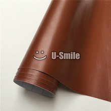 Brown Leather Vinyl Film Leather Self Adhesive Vinyl Stickers For Laptop Phone Car Decoration Size:1.52*30m/Roll