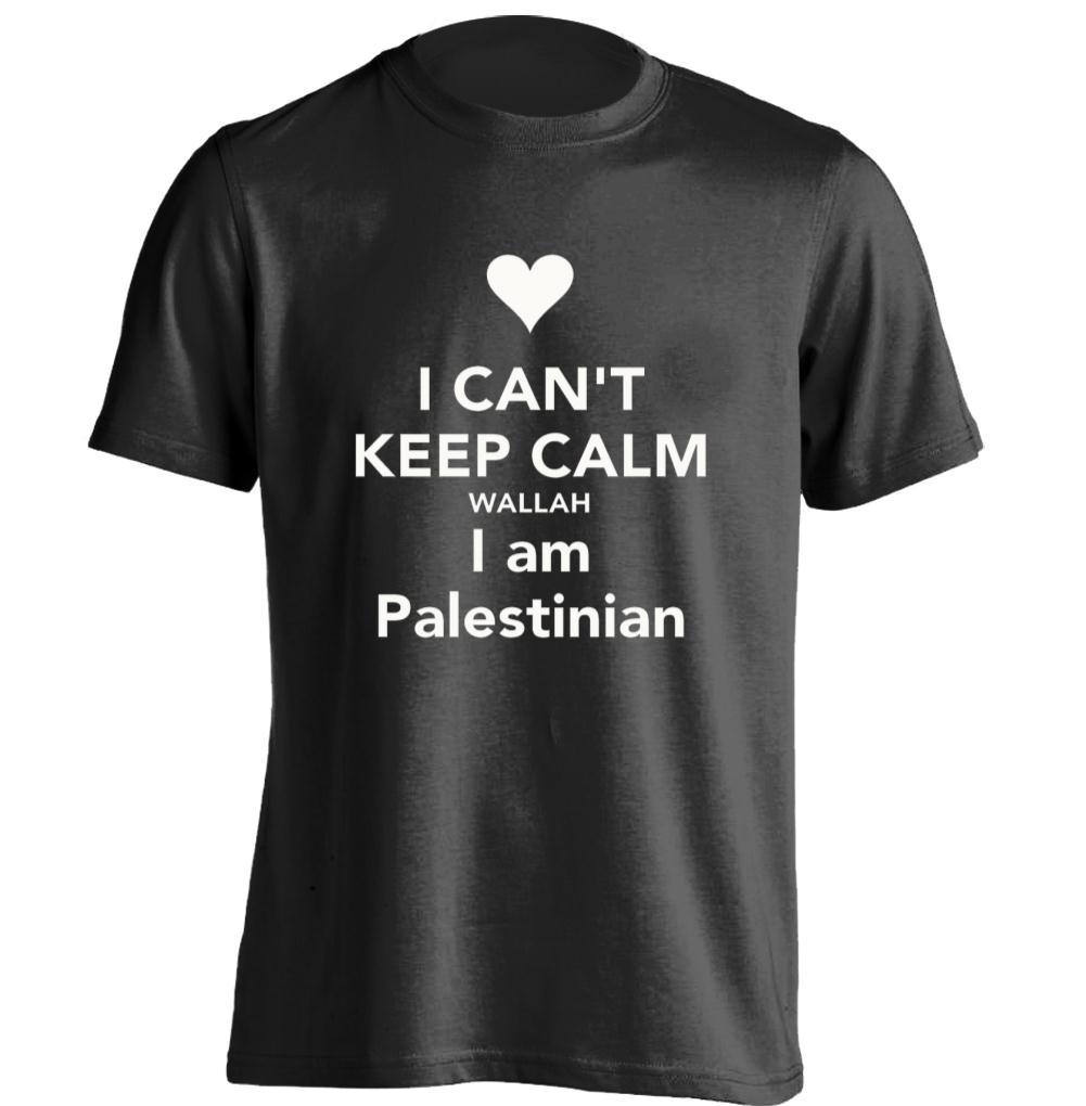 I Can T Keep Calm I Love Palestine Mens Womens Rock T