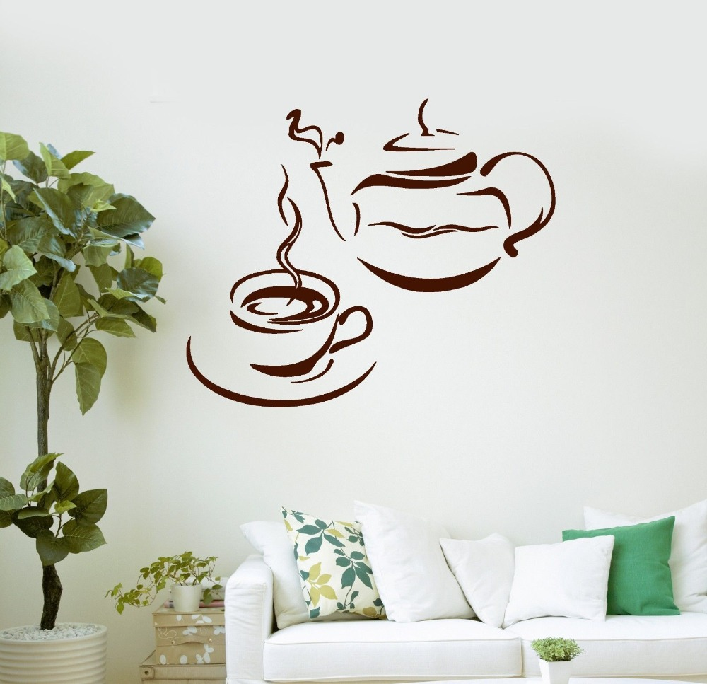online get cheap dining room decoration aliexpress com alibaba wall sticker for kicthen room decoration coffee cup logo decals dining room decoration coffee vinilos adesivo