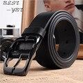 Nuevos Cinturones de Diseño Hombres de Alta Calidad de la Marca de Lujo Correa de Cuero Pin Hebilla Negro Correa de cuero Cinturones de Pantalón de Negocios Hombre Cinto
