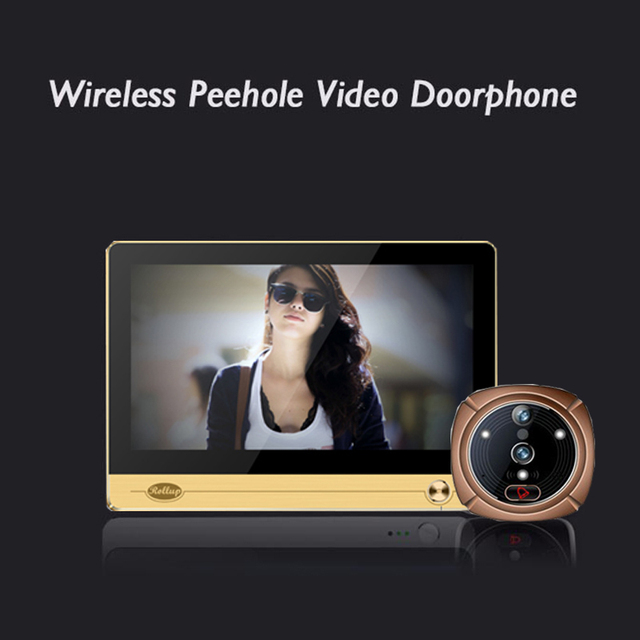 "iHome 4 Wireless WIFI Peephole Doorbell Intercom for Smart Home System, 7"" 1024*600 Touchscreen LCD Monitor+2.0 mega Camera"