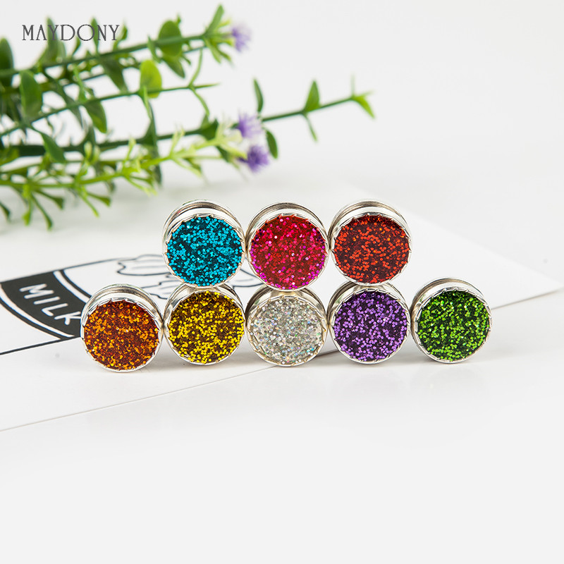 XT111 wholesale candy colors magnet brooches Shiny headwear fashion vintage brooches for women